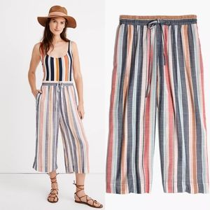 Madewell Houston Cover Up Towel Stripe Crop Pants